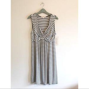 Boston Proper | NWT Twist Front Stripe Dress